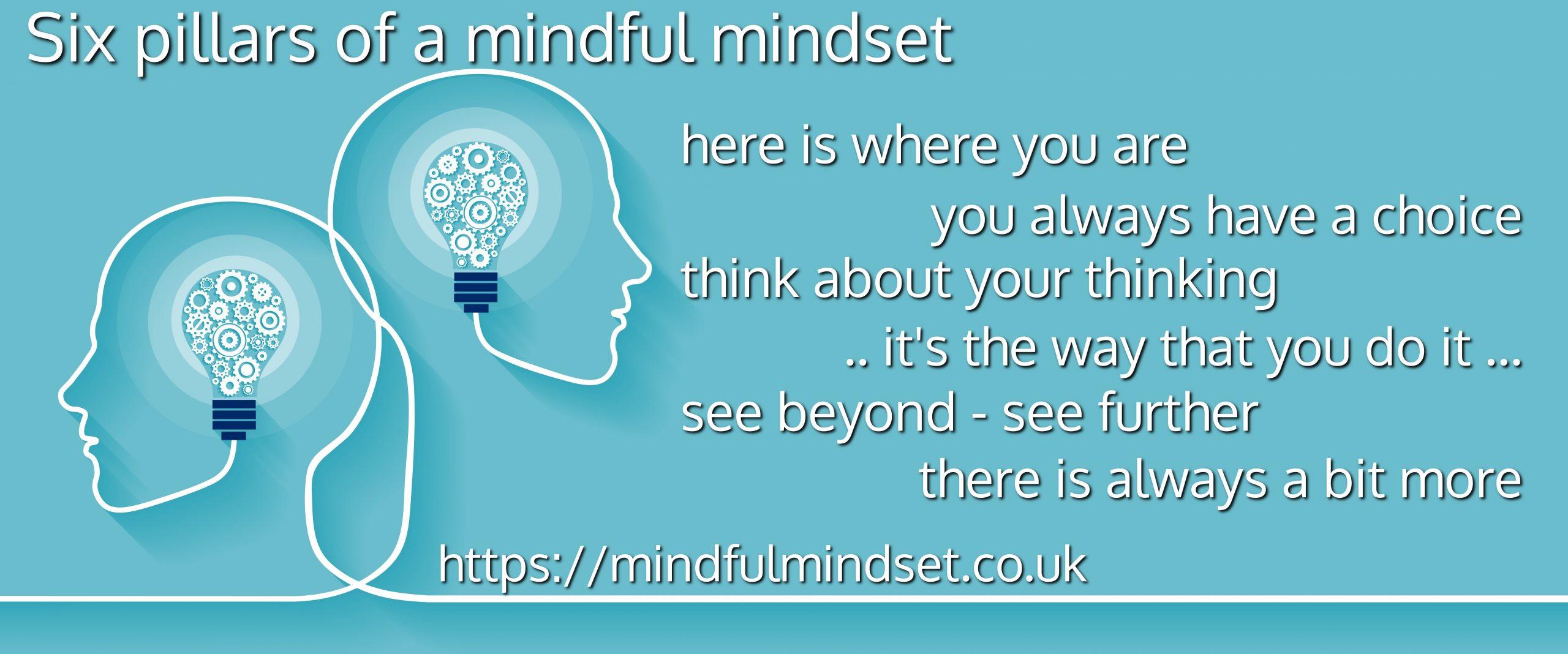Six pillars of a mindful mindset